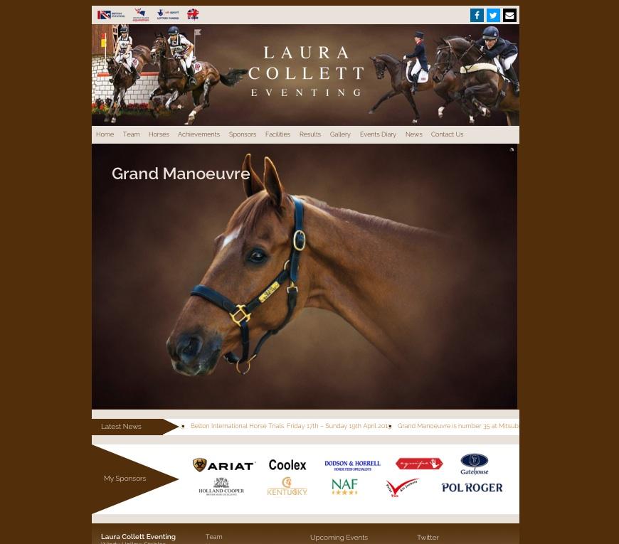 Laura Collett Eventing Website